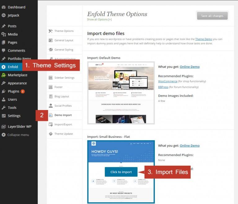import-enfold-demo