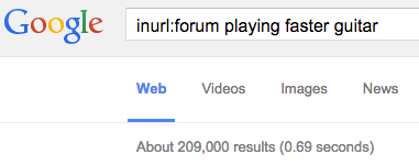 find forums in google