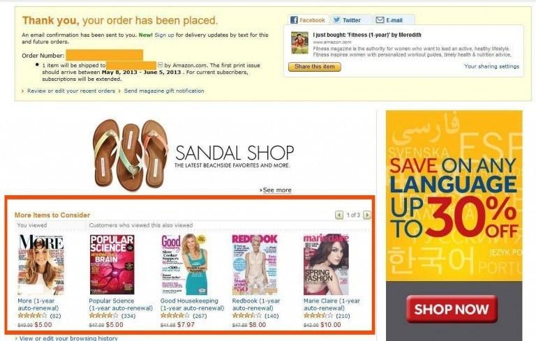 amazon success page
