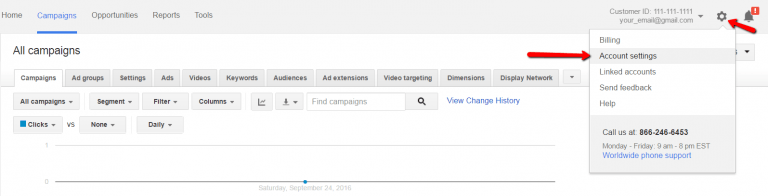 accept adwords link request