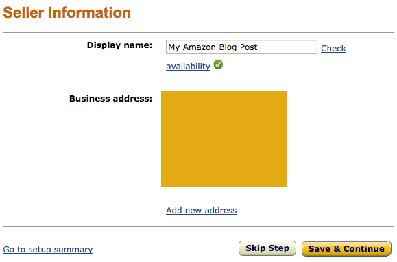 amazon seller information