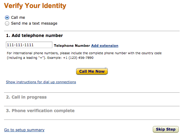 amazon verify identity