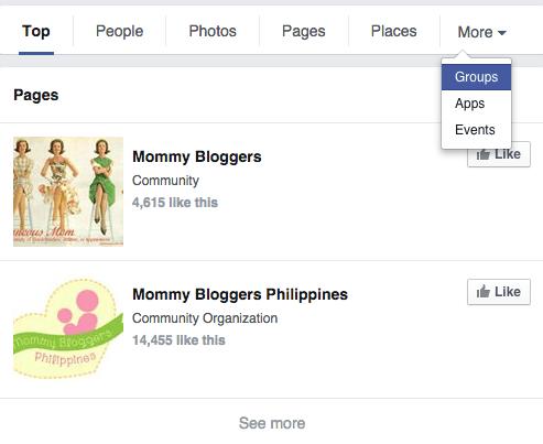 filter Facebook groups