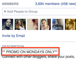 Facebook promotion day