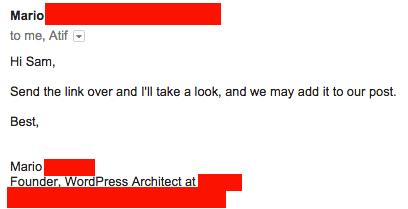 feeler outreach email