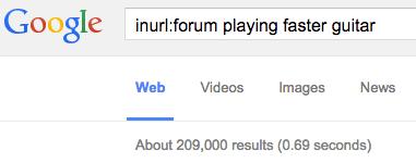 find forums in google