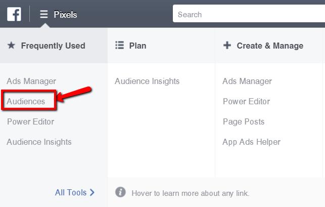 facebook-audiences-menu