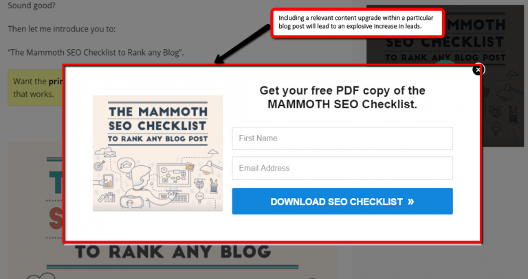 Content Upgrade SEO Checklist